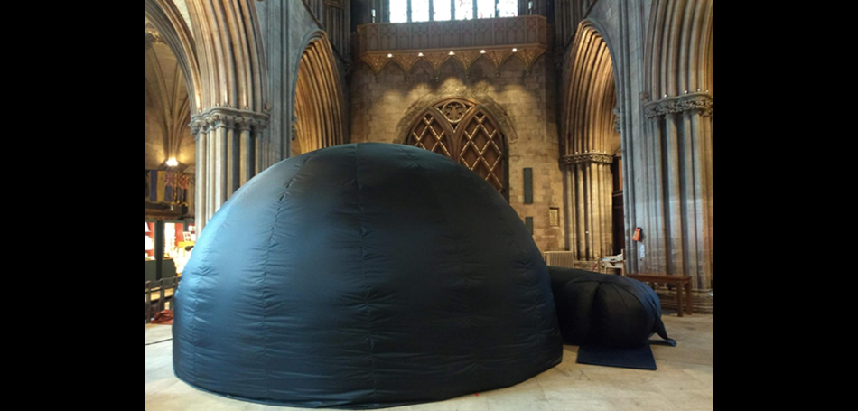 Explorer Dome at Litchefield Cathedral
